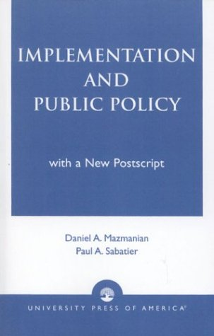 Implementation and Public Policy   1989 (Reprint) edition cover