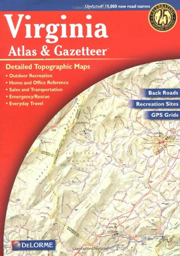 Virginia Atlas and Gazetteer  4th edition cover