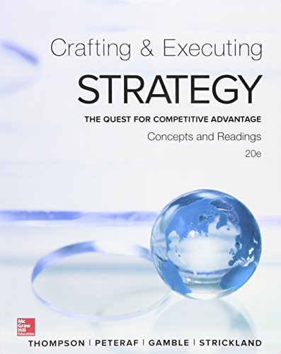 Crafting and Executing Strategy  20th 2016 9781259622267 Front Cover