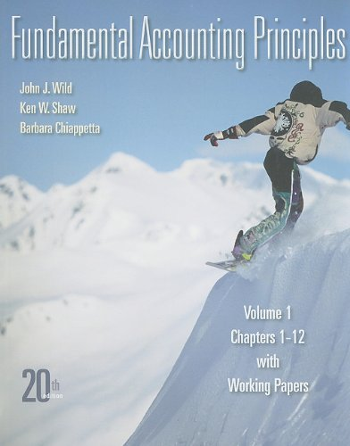 Fundamental Accounting Principles - Chapters 1-12  20th 2011 edition cover