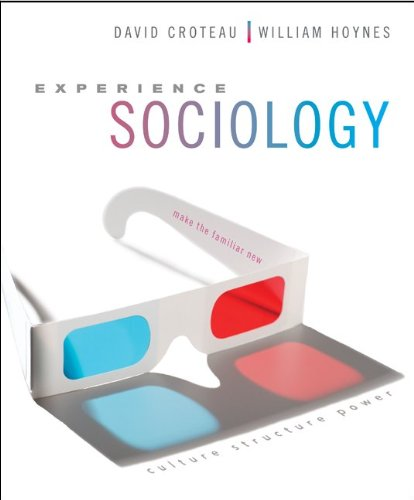 Experience Sociology with Connect Plus Access Card   2013 edition cover