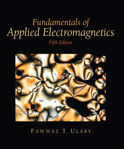 Fundamentals of Applied Electromagnetics  5th 2007 9780132413268 Front Cover