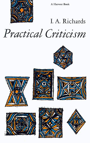 Practical Criticism A Study of Literary Judgment  1956 edition cover