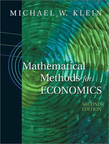 Mathematical Methods for Economics  2nd 2002 (Revised) edition cover
