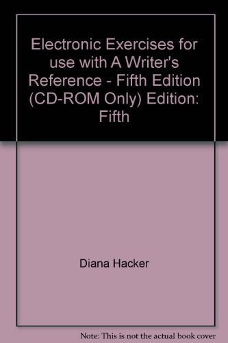 WRITER'S REFERENCE-CD (SW) 5th 2003 9780312408268 Front Cover