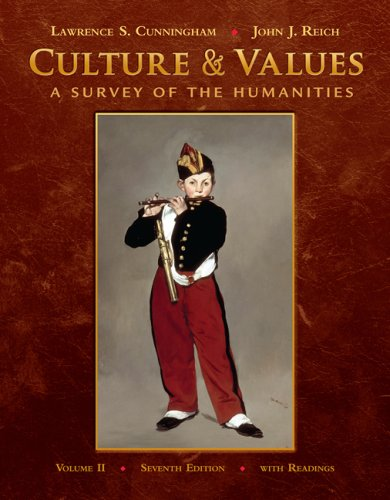 Culture and Values A Survey of the Humanities with Readings 7th 2010 edition cover