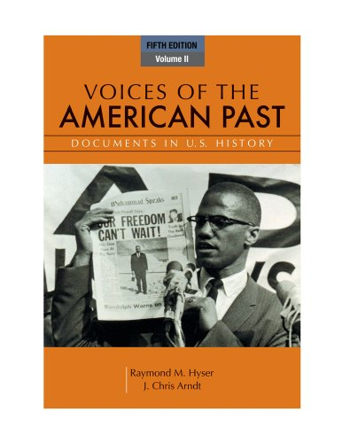 Voices of the American Past, Volume II  5th 2012 edition cover