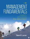 Management Fundamentals Concepts, Applications, and Skill Development 6th 2015 edition cover
