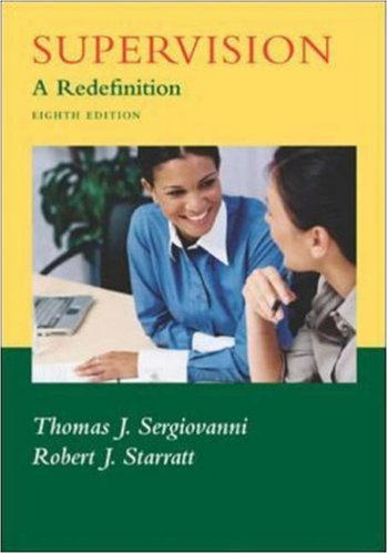 Supervision A Redefinition 8th 2007 (Revised) edition cover