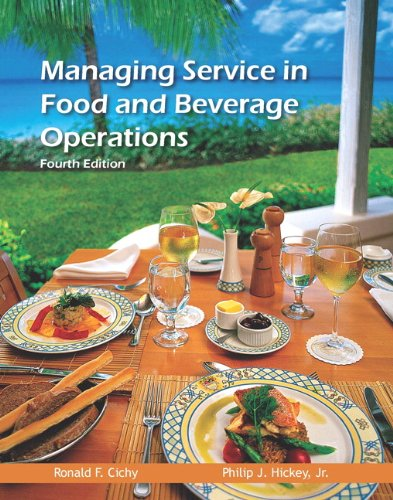 Managing Service in F and b Operations:   2012 edition cover