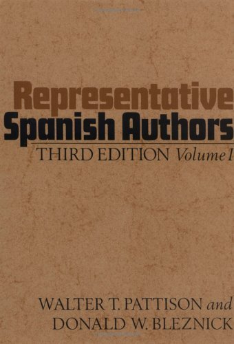 Representative Spanish Authors  3rd 1971 (Revised) edition cover