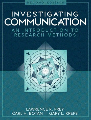 Investigating Communication An Introduction to Research Methods 2nd 2000 (Revised) edition cover
