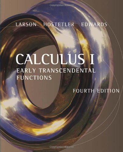 Calculus I Early Transcendental Functions 4th 2007 edition cover