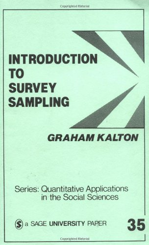 Introduction to Survey Sampling   1983 edition cover