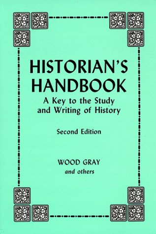 Historian's Handbook : A Key to the Study and Writing of History 2nd (Reprint) edition cover