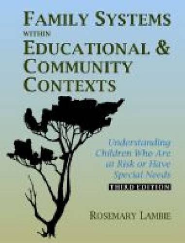 Family Systems Within Educational and Comm  3rd 2008 9780891083269 Front Cover