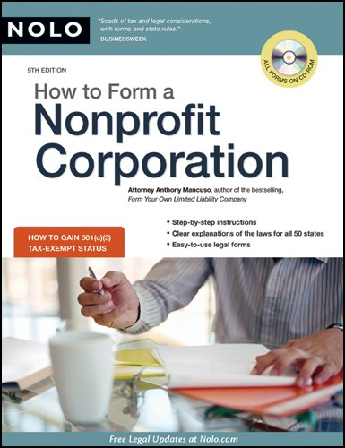 How to Form a Nonprofit Corporation 9th 2009 (Revised) edition cover