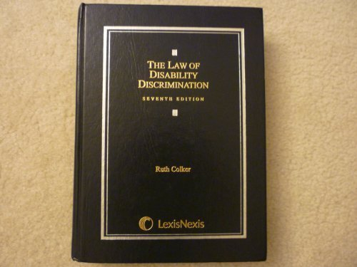 Law of Disability Discrimination  7th 2009 edition cover