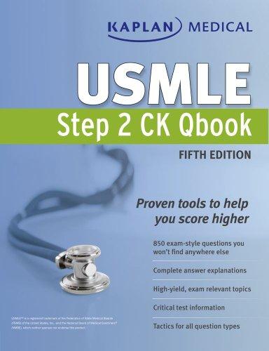 Kaplan Medical USMLE Step 2 CK Qbook  5th 2011 (Revised) edition cover