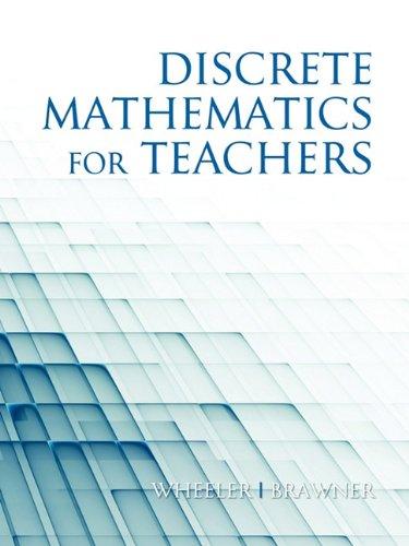 Discrete Mathematics for Teachers  2010 edition cover