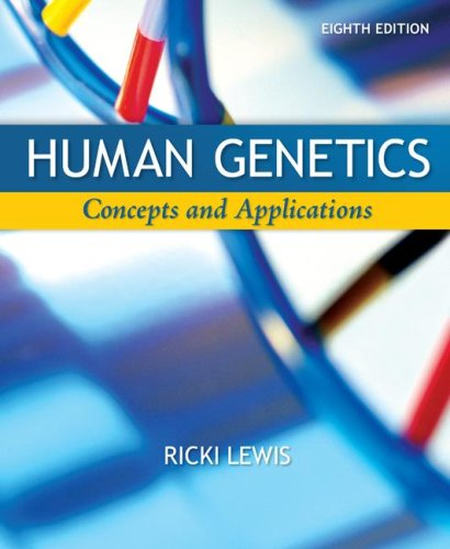 Human Genetics  8th 2008 edition cover