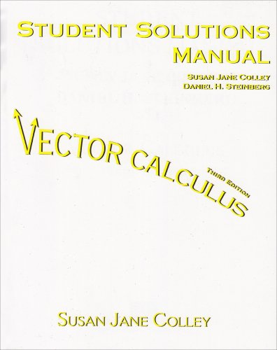Vector Calculus:  3rd 2005 9780131936270 Front Cover