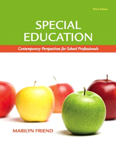 Special Education Contemporary Perspectives for School Professionals 3rd 2011 edition cover