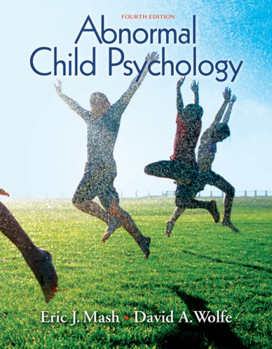 Abnormal Child Psychology  4th 2009 9780495506270 Front Cover