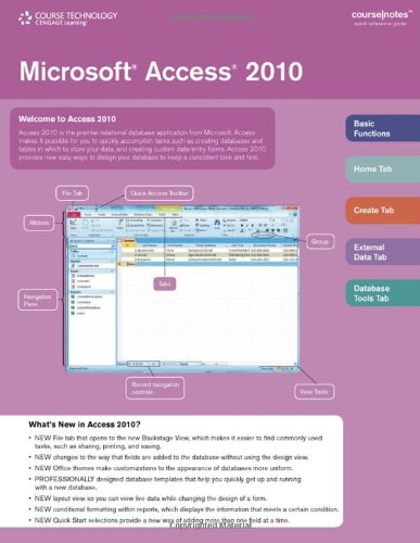 Microsoft� Access� 2010   2011 9780538744270 Front Cover