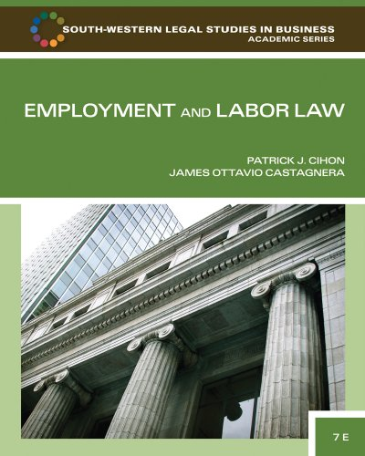 Employment and Labor Law  7th 2011 edition cover
