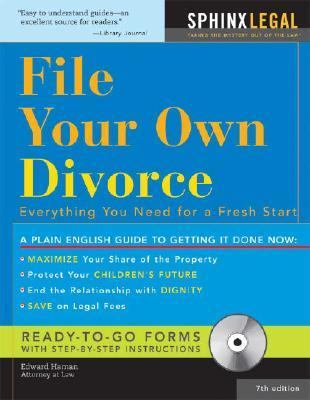 File Your Own Divorce Everything You Need for a Fresh Start 7th 2007 9781572486270 Front Cover