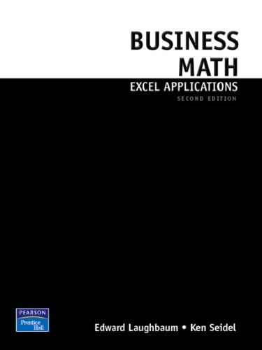 Business Math Excel Applications for Business Mathematics + Business Math + Study Guide:  8th 2008 9780135056271 Front Cover