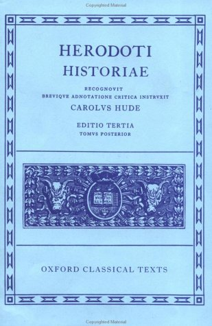 Herodoti Historiae  3rd (Revised) 9780198145271 Front Cover
