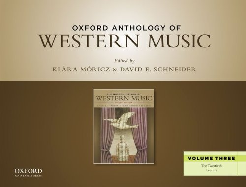 Oxford Anthology of Western Music The Twentieth Century N/A edition cover