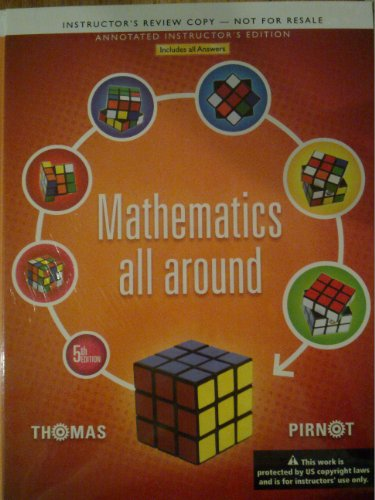 MATHEMATICS ALL AROUND >ANNOT.INSTRS<   N/A edition cover