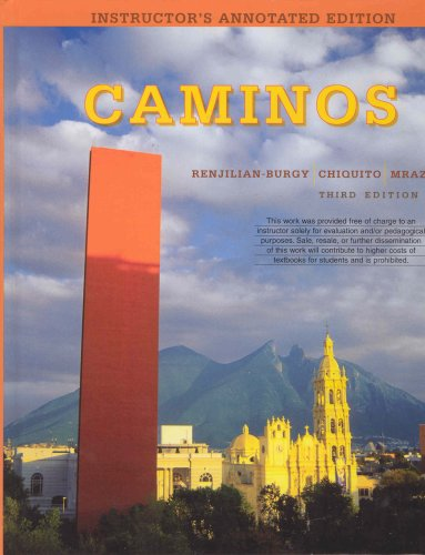 Caminos 3rd 2008 9780618870271 Front Cover