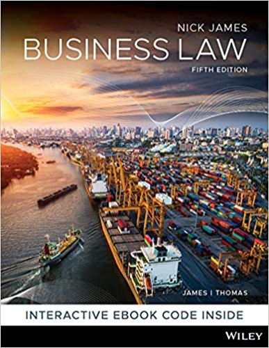 Cover art for Business Law, 5th Edition