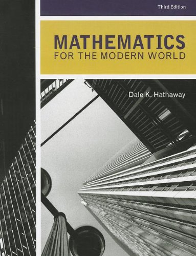 Mathematics for the Modern World  3rd 2012 edition cover