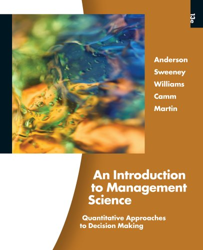 Introduction to Management Science  13th 2011 edition cover