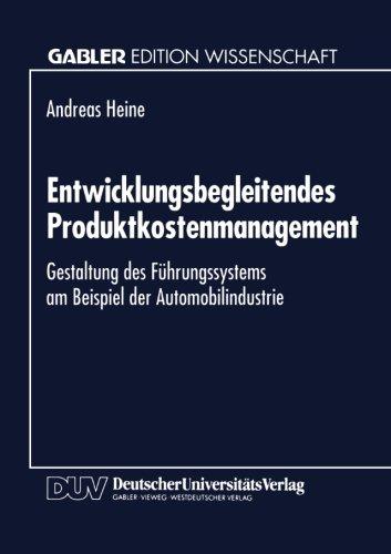 Entwicklungsbegleitendes Produktkostenmanagement   1995 9783824461271 Front Cover