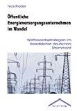 Öffentliche Energieversorgungsunternehmen im Wandel: Wettbewerbsstrategien im liberalisierten deutschen Strommarkt N/A 9783828885271 Front Cover