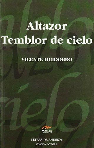 Altazor. Temblor de cielo / Trembling Sky:  2010 edition cover