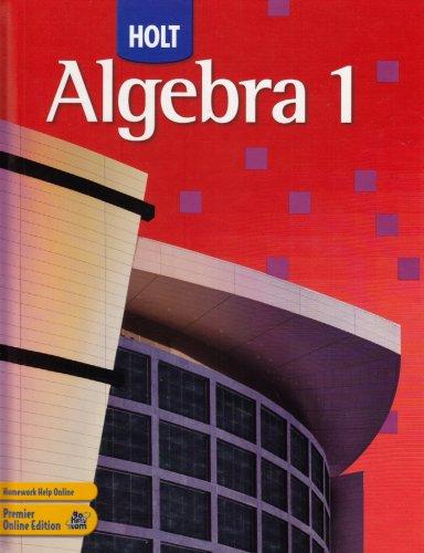 Holt Algebra 1 1st 2006 9780030358272 Front Cover