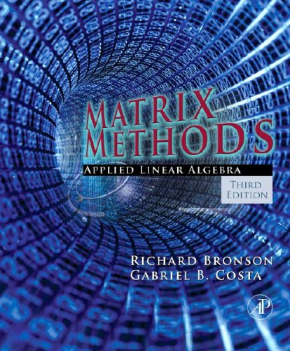 Matrix Methods Applied Linear Algebra 3rd 2008 edition cover