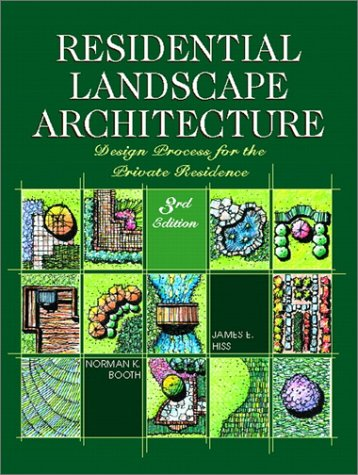 Residential Landscape Architecture Design Process for the Private Residence 3rd 2002 edition cover