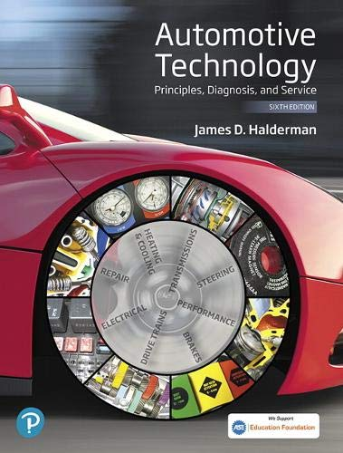 Automotive Technology: Principles, Diagnosis, and Service  2019 9780135257272 Front Cover