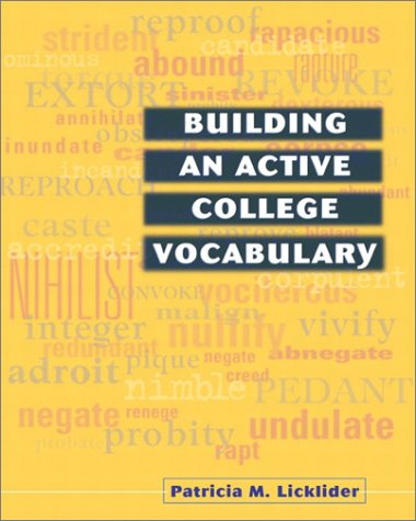 Building an Active College Vocabulary   2002 edition cover