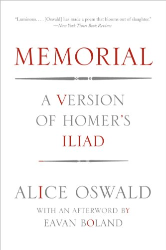 Memorial A Version of Homer's Iliad  2013 edition cover