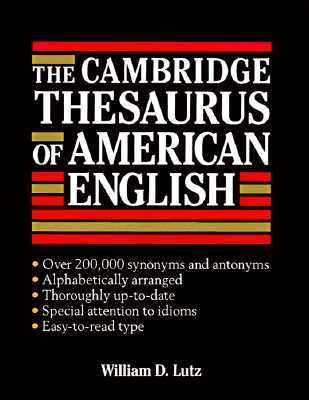 Cambridge Thesaurus of American English   1994 9780521414272 Front Cover