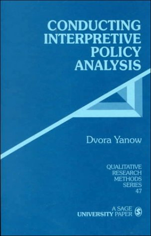 Conducting Interpretive Policy Analysis   1999 edition cover